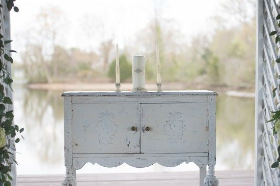Ceremony Altar Vintage Table, Vintage Furniture Wedding, Unity Candle From  The Oaks Waterfront Inn