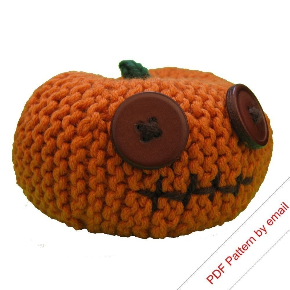 Knitting Pattern PDF. Pumpkin Head (Small). Knit Your Own Halloween Jackolantern. $3.00, via Etsy.
