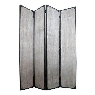 "Screen Gems 83"" x 63"" Industrial 4 Panel Room Divider"