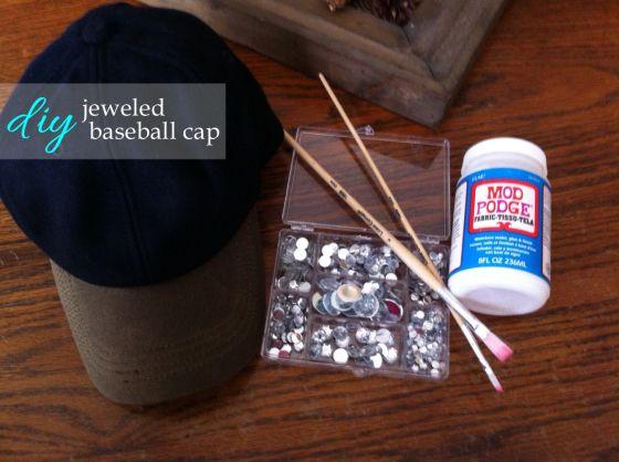 764014849b94 DIY Jeweled Baseball Cap