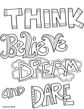 Coloring pages self esteem quotes 4th gr stuff pinterest for Self esteem coloring pages