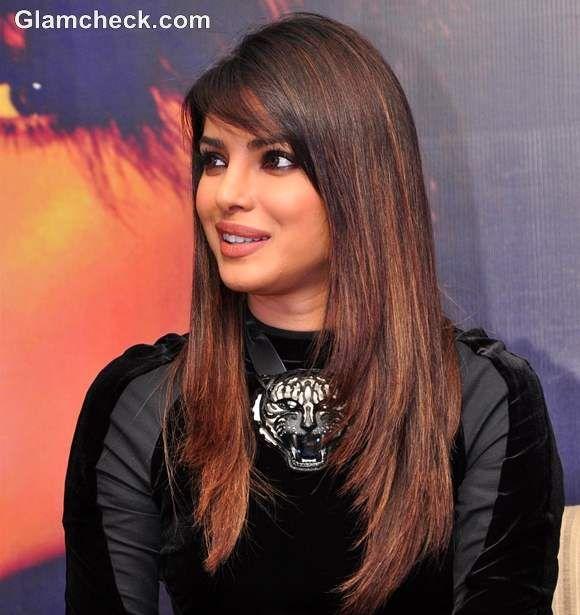 Priyanka Chopra Blenders Pride Fashion Tour Press Conference Indian Hair Highlights Hair Styles Indian Hairstyles
