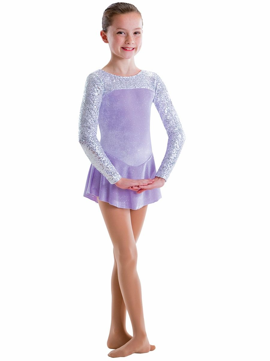 8ddbfb60c CLEARANCE - Motionwear Lilac   White Sequins Velour 2 Tone Long ...