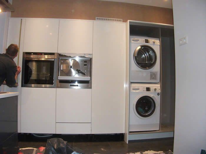 Verwonderend De wasmachine en droger van klant is door ons ingebouwd bij deze QE-52