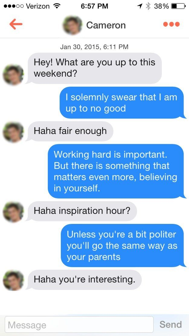 How to respond to guys on tinder