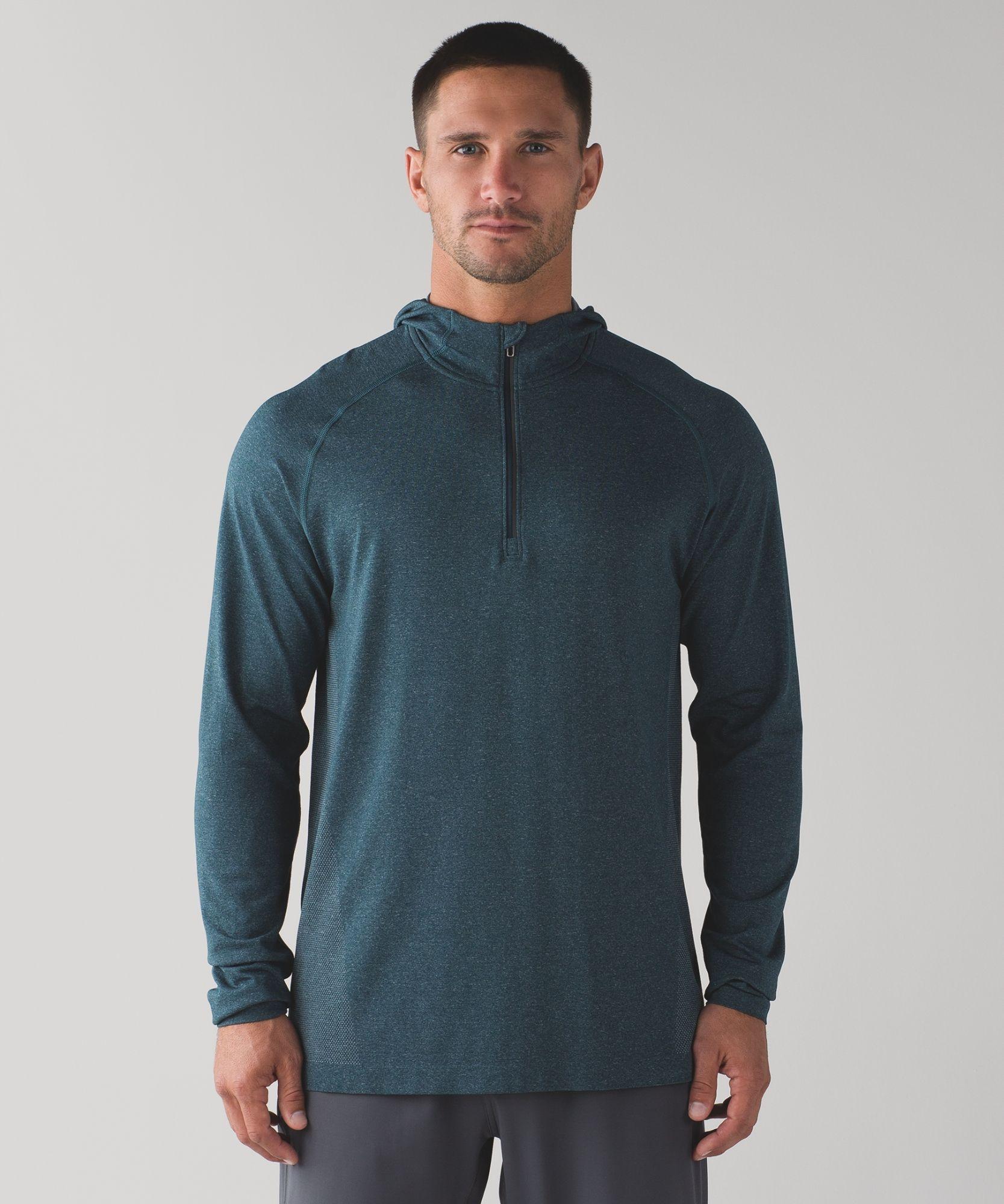 Lululemon Men S Silvertech Hoodie Medium Colors Blue Grey Black Tech Hoodie Running Hoodie Technical Clothing