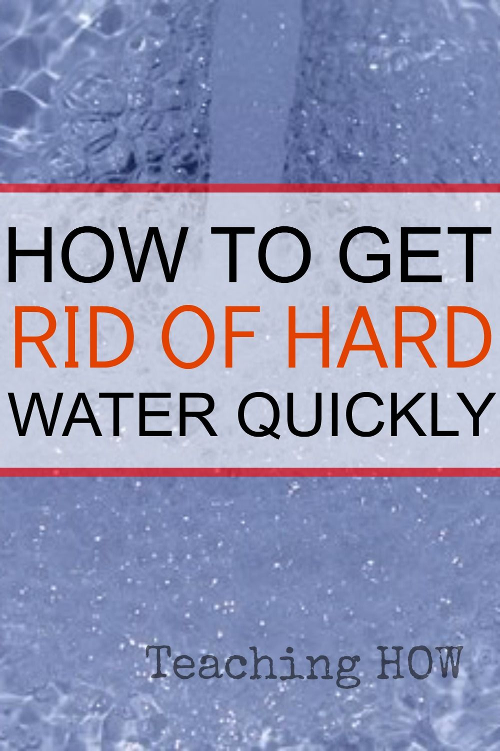 How to Get Rid of Hard Water Quickly | Hard water, Water and DIY ...
