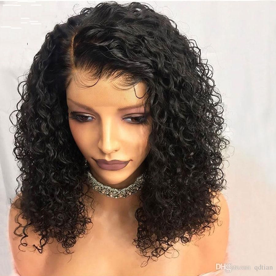Short Curly Lace Front Human Hair Wigs Pre Plucked With Baby Hair Brazilian Remy Ha Human Hair Lace Wigs Front Lace Wigs Human Hair Curly Hair Styles Naturally