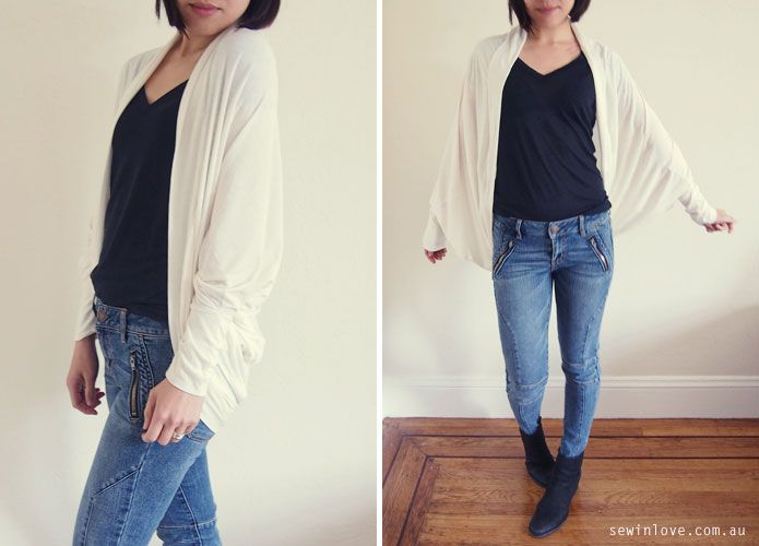 Cocoon Cardigan - Free Sewing Pattern & Tutorial Video   Costura ...