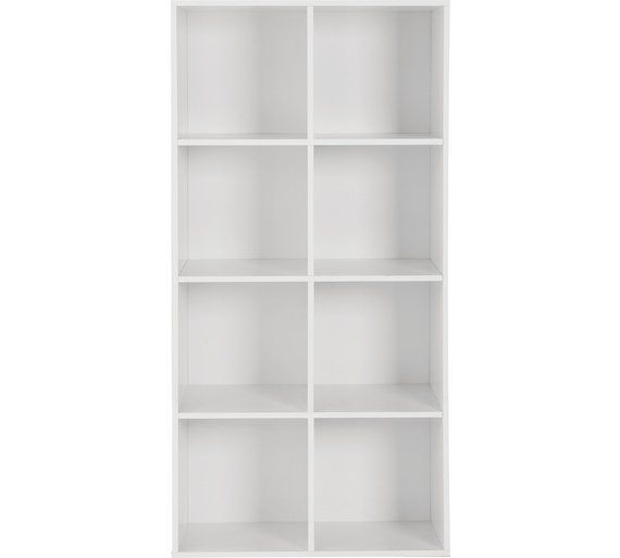 buy home phoenix 8 cube storage unit white at. Black Bedroom Furniture Sets. Home Design Ideas