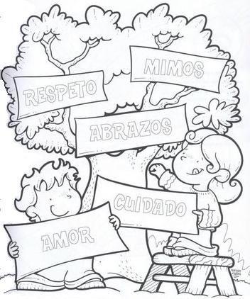 Valores Valores Humanos Mensajes Para Niños Día Del