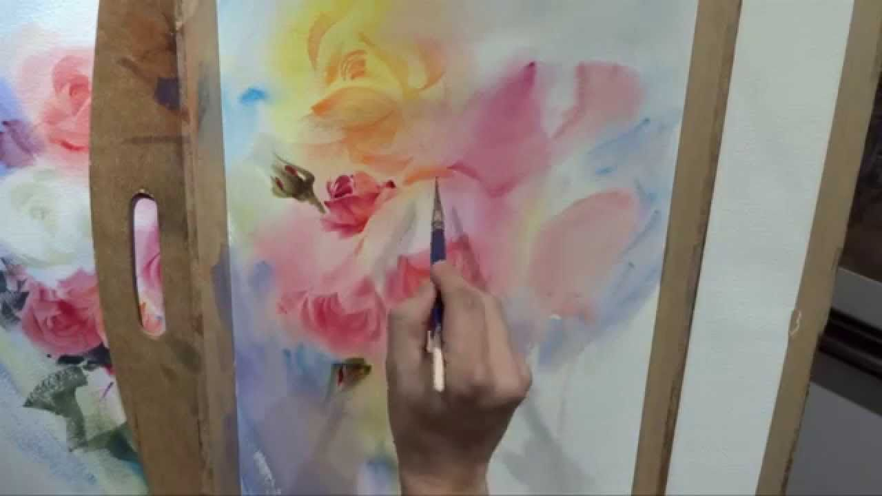 Adisorn Workshop 333 Part 3 Videos De Peinture Aquarelle Fleurs