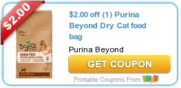 Tri Cities On A Dime: SAVE $2.00 ON PURINA BEYOND DRY CAT FOOD BAG
