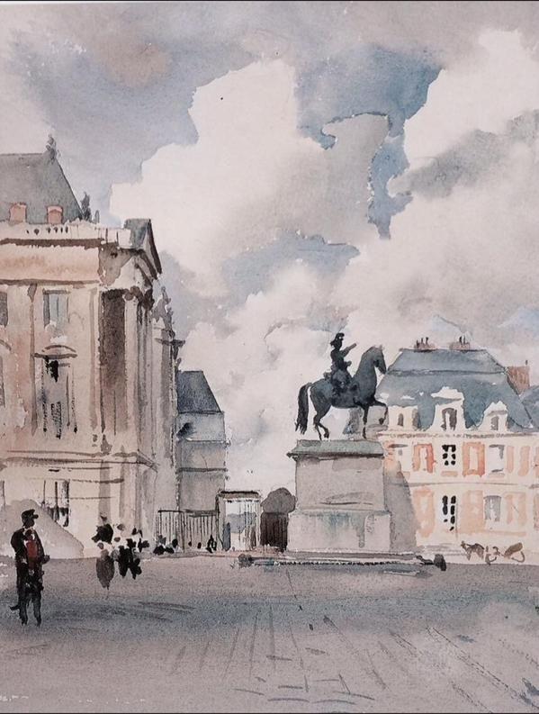 Cour Du Chateau De Versailles H Zuber France Vers 1885