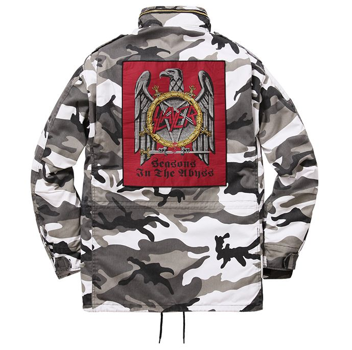 Supreme 슈프림 [Supreme] Supreme®/Slayerⓒ Eagle M-65 Jacket Snow Camo