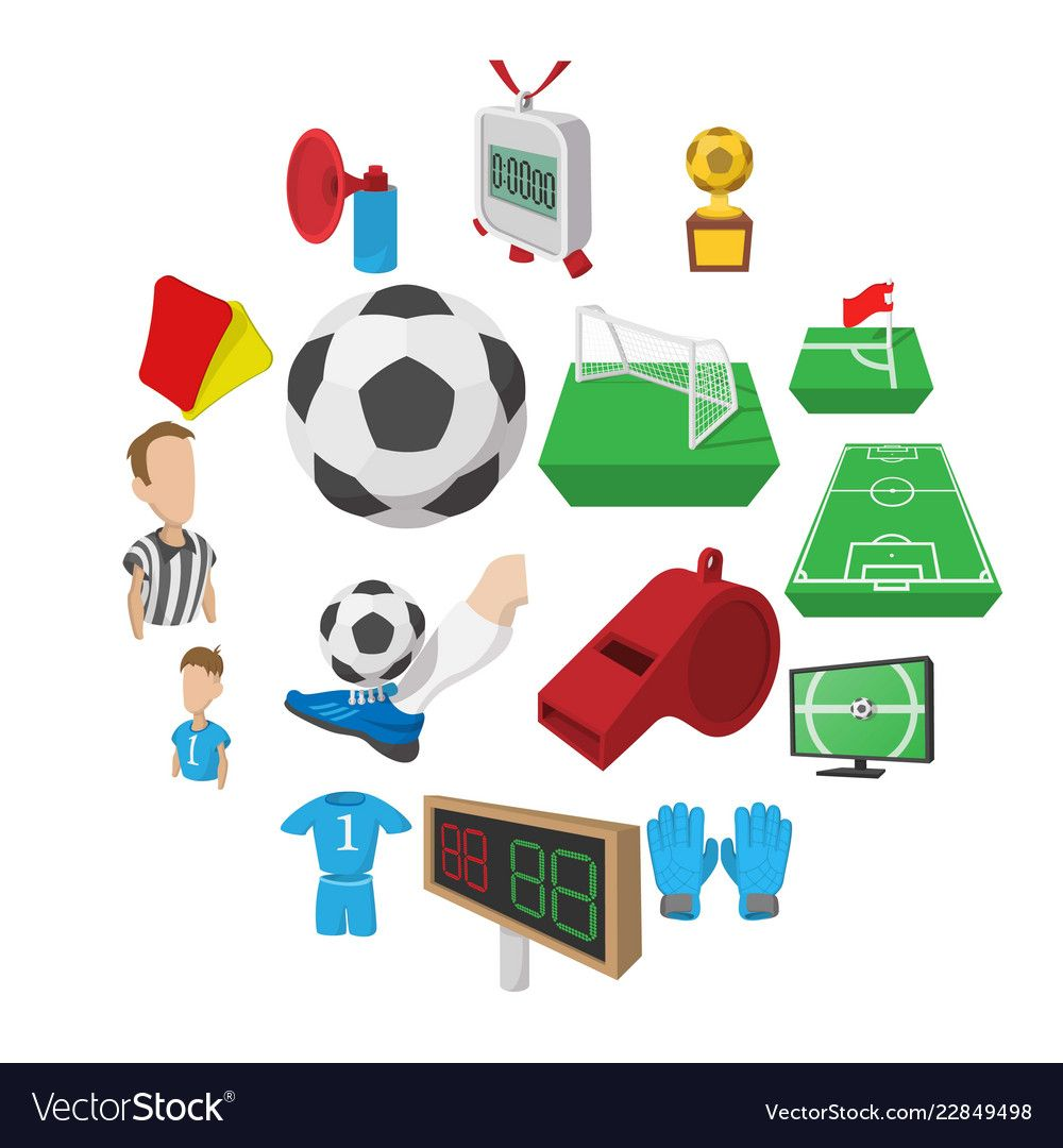 Soccer Cartoon Icons Set Royalty Free Vector Image Affiliate Icons Set Soccer Cartoon Ad Dragon Silhouette Tree Icon Cartoon Icons