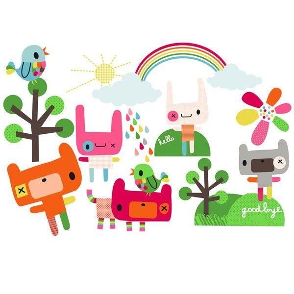 Sticker Enfant Sans Pvc Gai Et Color De Jillian Phillips Disponible Chez Pep Up Design
