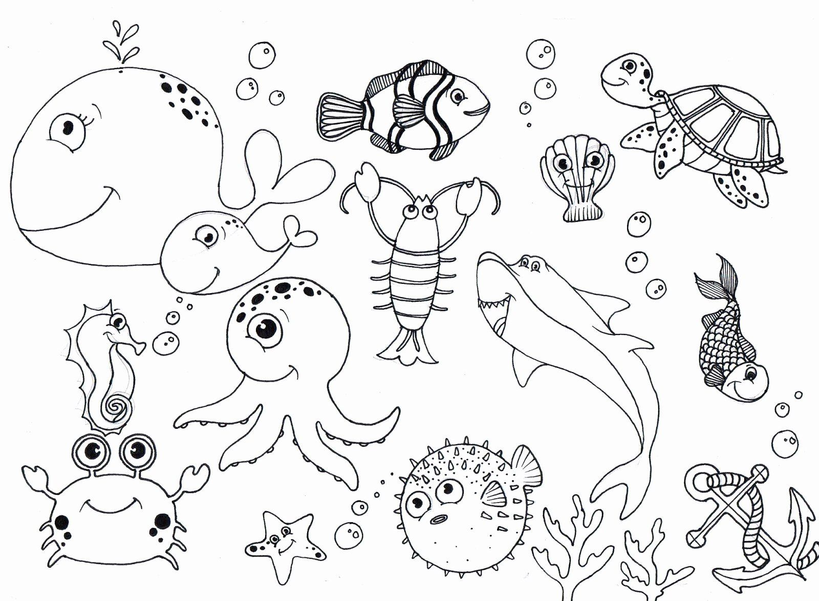 Ocean Animals Coloring Page Awesome Free Under The Sea Coloring Pages To Print For Kids In 2020 Ocean Coloring Pages Animal Coloring Pages Sea Drawing