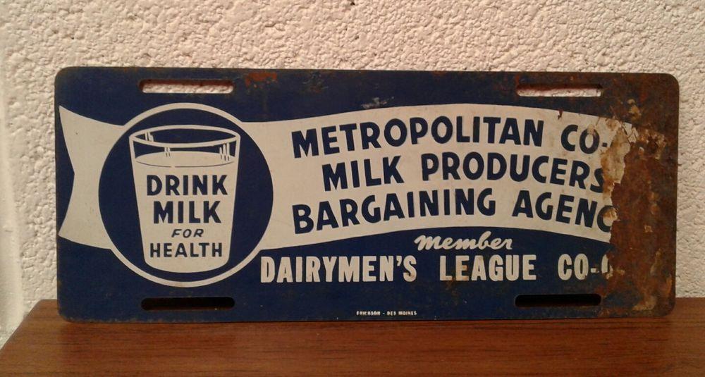 Antique Vintage Dairymen's League Member Sign License