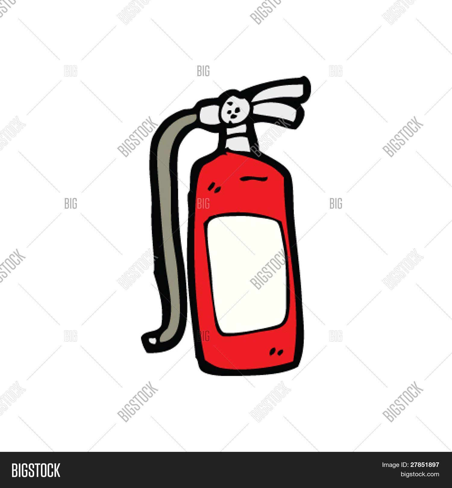 dibujos animados de extintor de incendios | Carro de bomberos ...