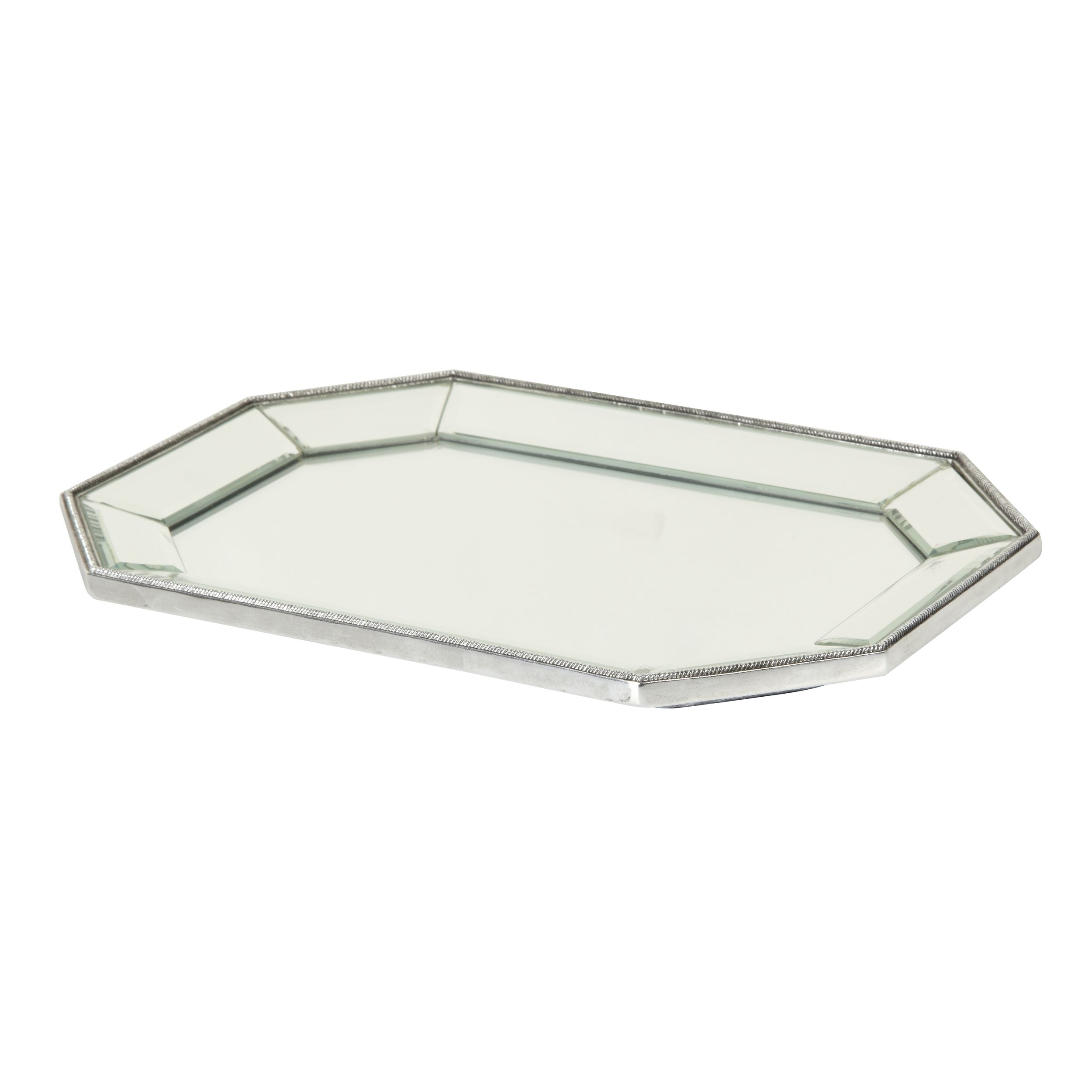 Decorative Mirror Tray Glamorous Decorative Beaded Edge Mirror Tray At Laura Ashley  Interiors Design Decoration