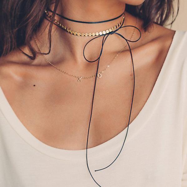 Amarilo Jewelry XO Initial Necklace, 14 kt gold, $233. #chateaucountrylace #amarilojewelry #madeinla #shopifypicks