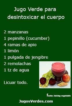 Especial Para Desintoxicar El Cuerpo Jugos Verdes Para Desintoxicar Jugos Saludables Jugos Para Desintoxicar