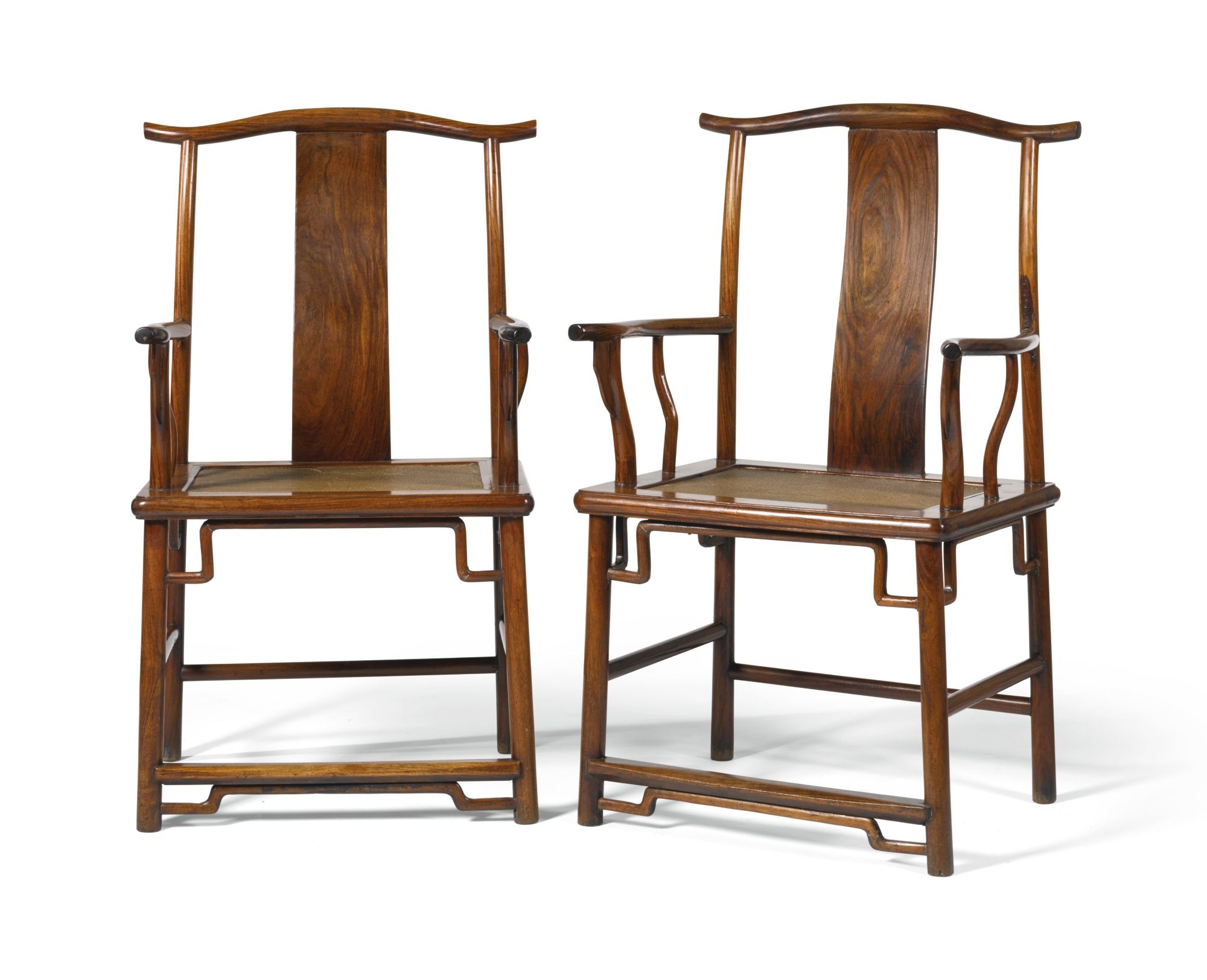 A Pair Of Huanghuali Official S Hat Yokeback Armchairs  # Muebles Dinastia Qing
