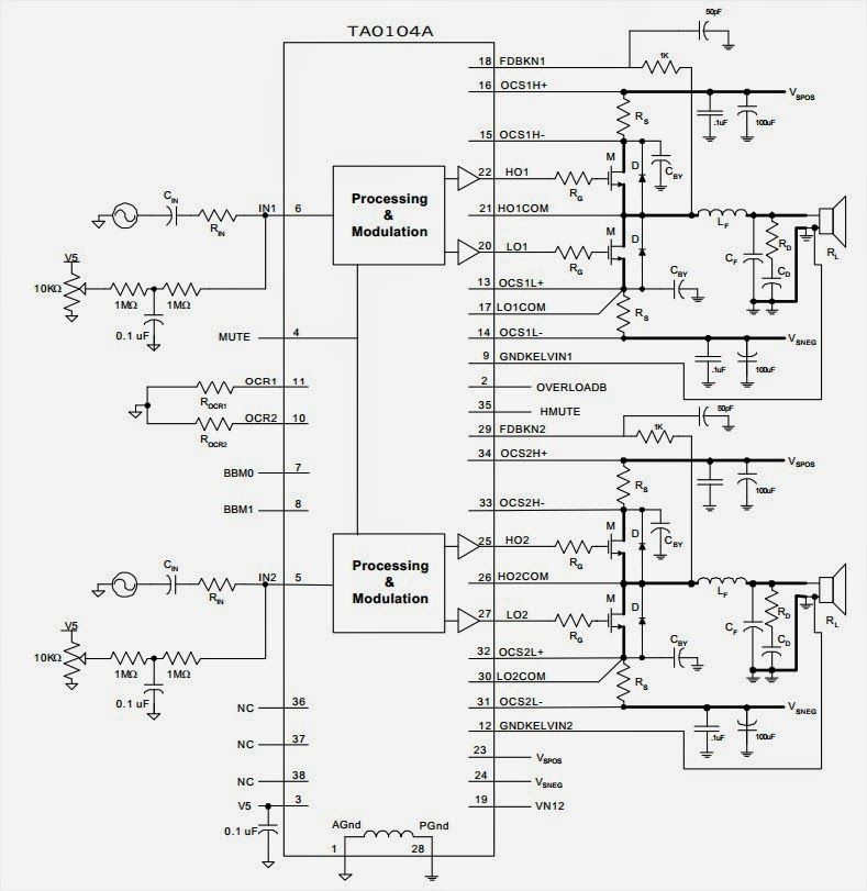 500W Subwoofer Amplifier Circuit ~ Audio Amplifier Circuits ...