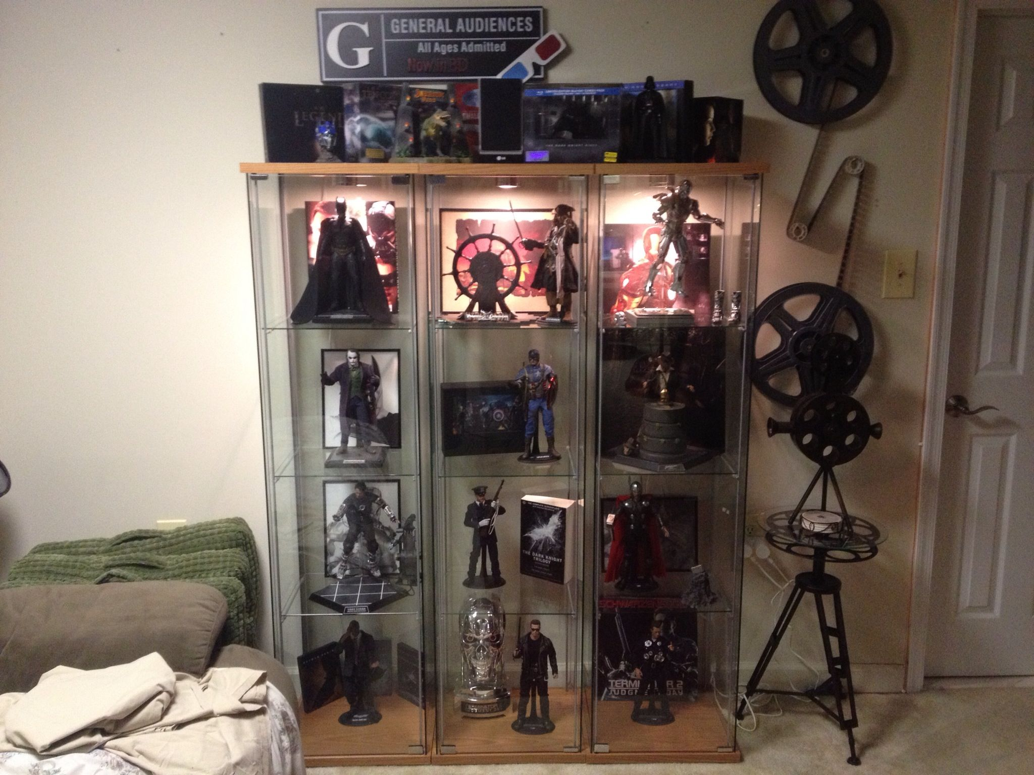 Ikea Detolf Shelves Containing Hot Toys Figures Theater