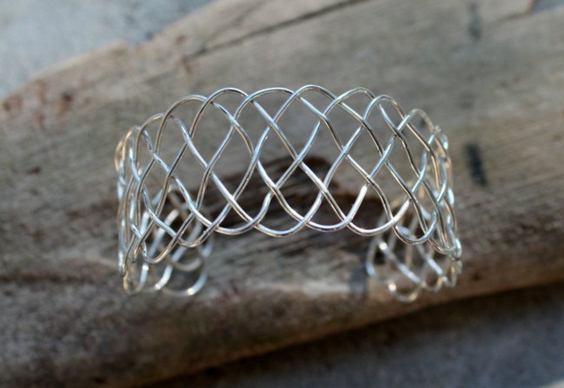 Sterling Silver Celtic Knot Wire Cuff Bracelet, $53.0 | Jewelry ...