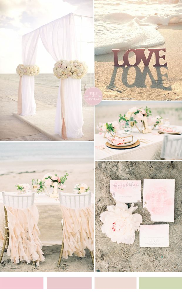 Pale Pink And Blush Beach Wedding Color Ideas For Summer Weddings