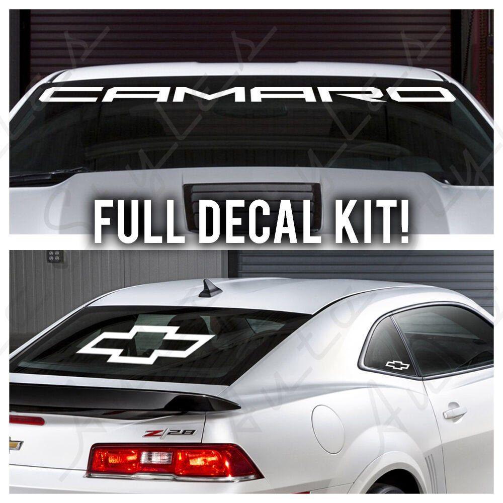 Camaro Windshield Banner Full Kit Logo Chevrolet Racing Decal Vinyl Sticker Set Camarocarbanner Camarostickers Carstick Camaro Accessories Camaro Camaro Car [ 1000 x 1000 Pixel ]