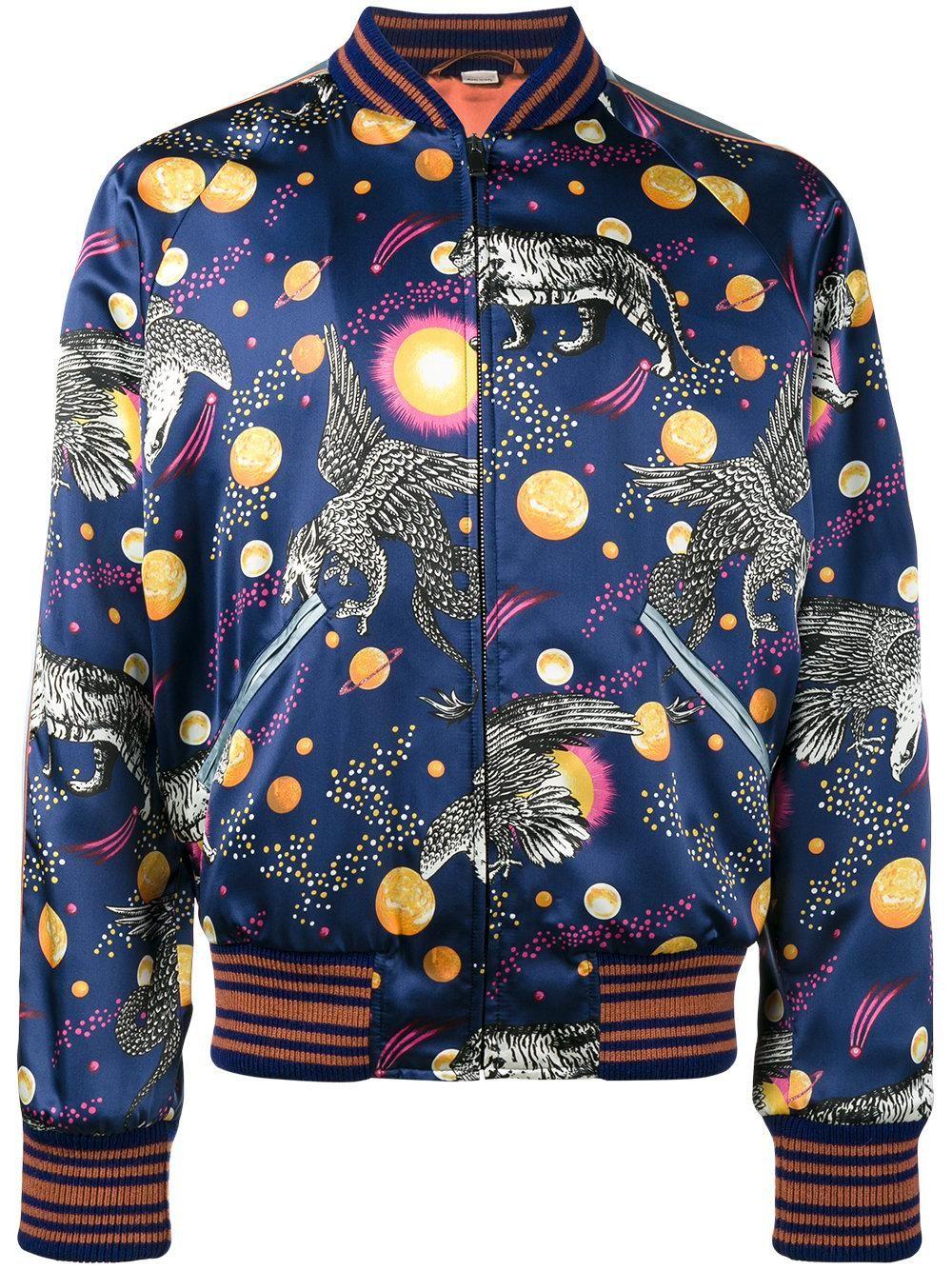 f24d9546 Men's Blue Silk Space Print Souvenir Jacket in 2019 | Fashion Inspo ...