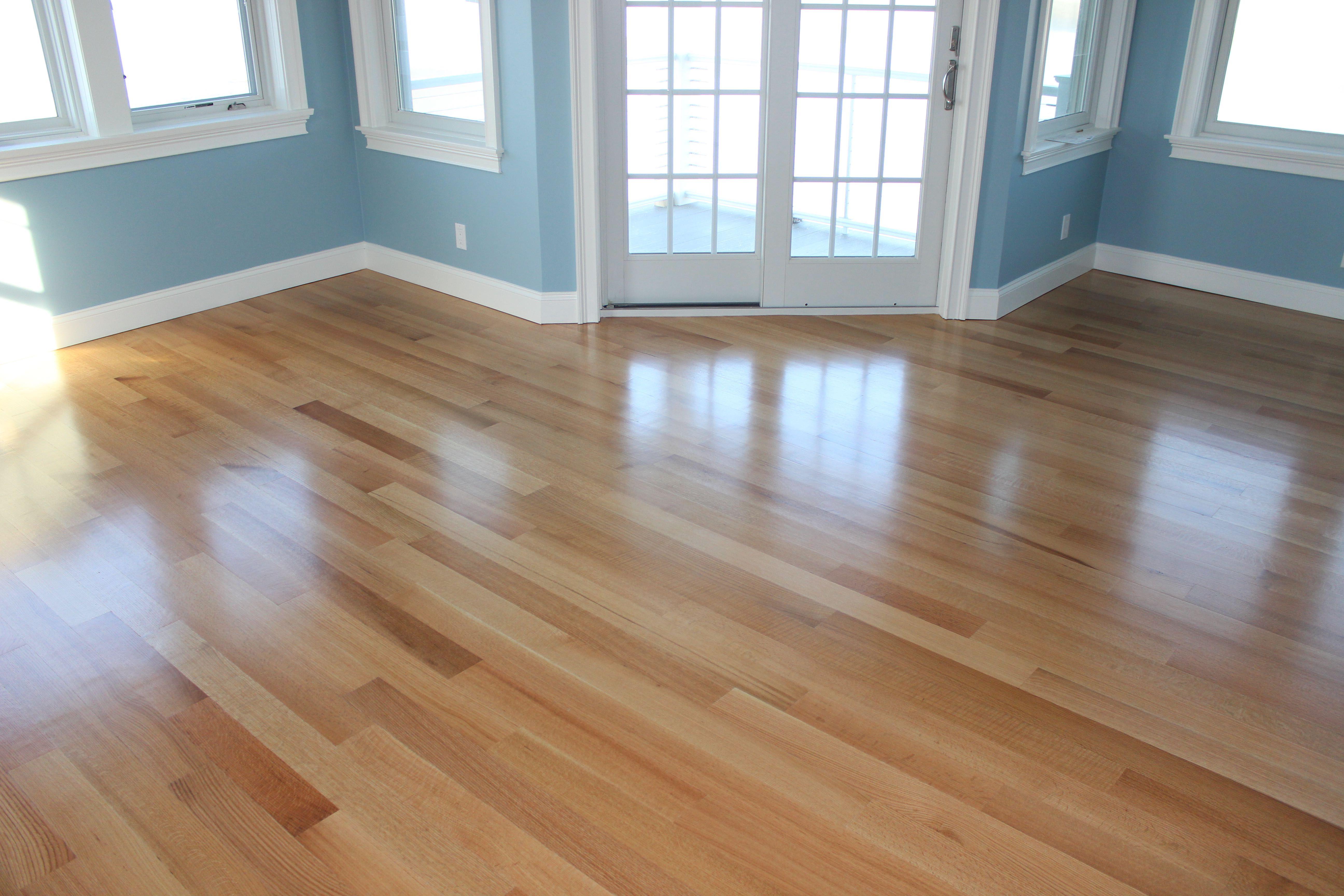 4 Rift And Quarter Sawn Red Oak Hardwood Flooring Top Coated With 3 Coats Of Poloplaz Primero Satin