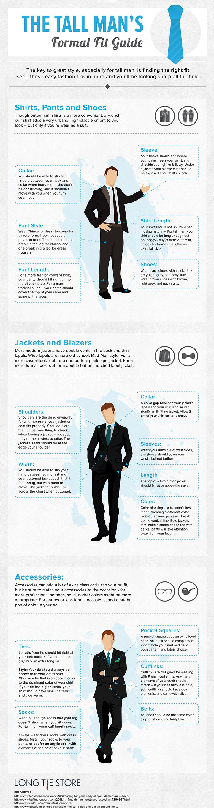 The Tall Man's Formal Fit Guide [infographic] everything
