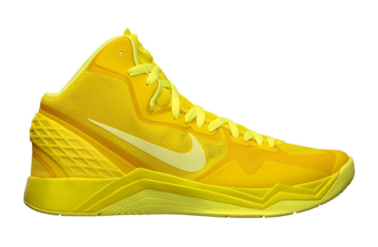 84e624d3fcc6 The new Zoom Hyperdisruptor from Nike Basketball arrives in a very yellow  colorway with this version in  Vivid Sulfur Electric Yellow .