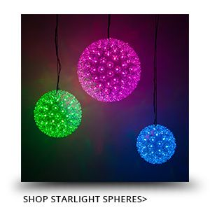 Starlight Spheres Christmas Ball Lights Outdoor Christmas