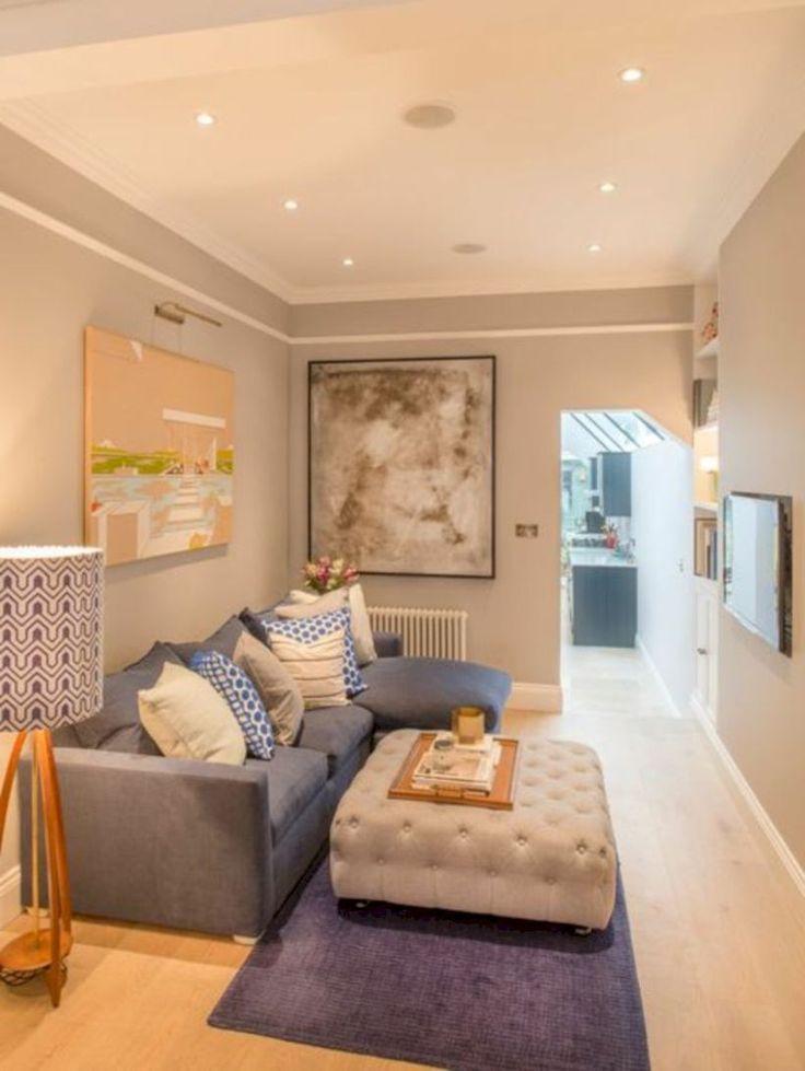 Atemberaubende 40 gemütliche Wohnzimmer Designs für kleine Räume gurudecor.com   Kleine ...