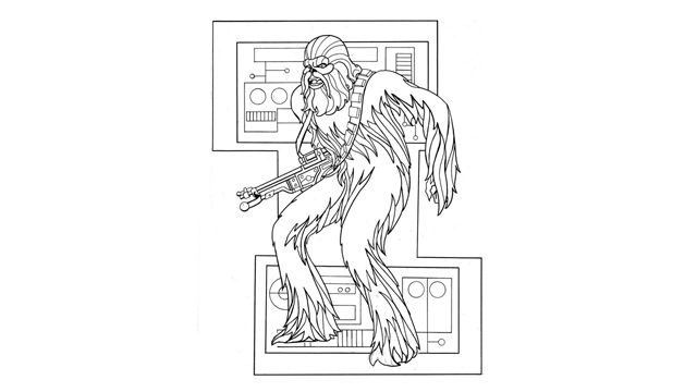 lego chewbacca coloring pages - photo#25