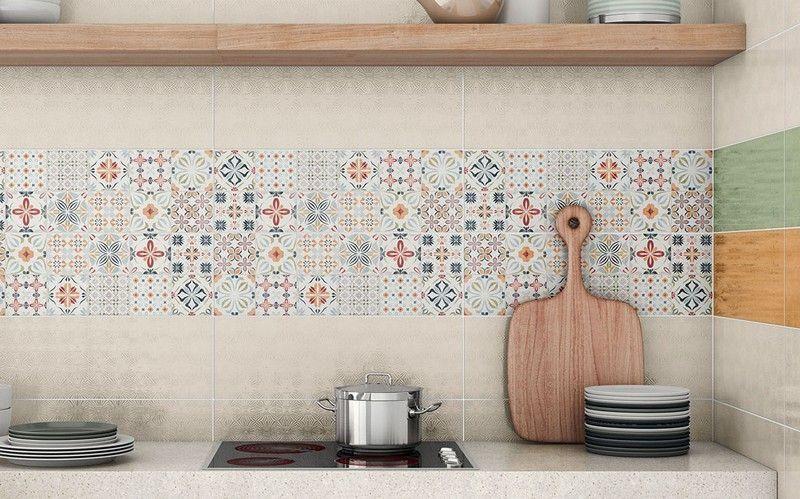 Cr dence cuisine carreaux de ciment patchwork et artistique - Carreaux ciment patchwork ...