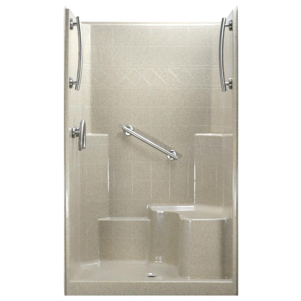Ella in x in x in piece low threshold shower stall in