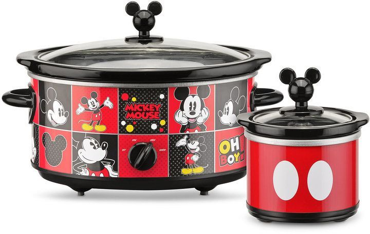 Disney Mickey Mouse Slow Cooker With Dipper Mickey Kitchen Mickey Mouse Kitchen Disney Kitchen