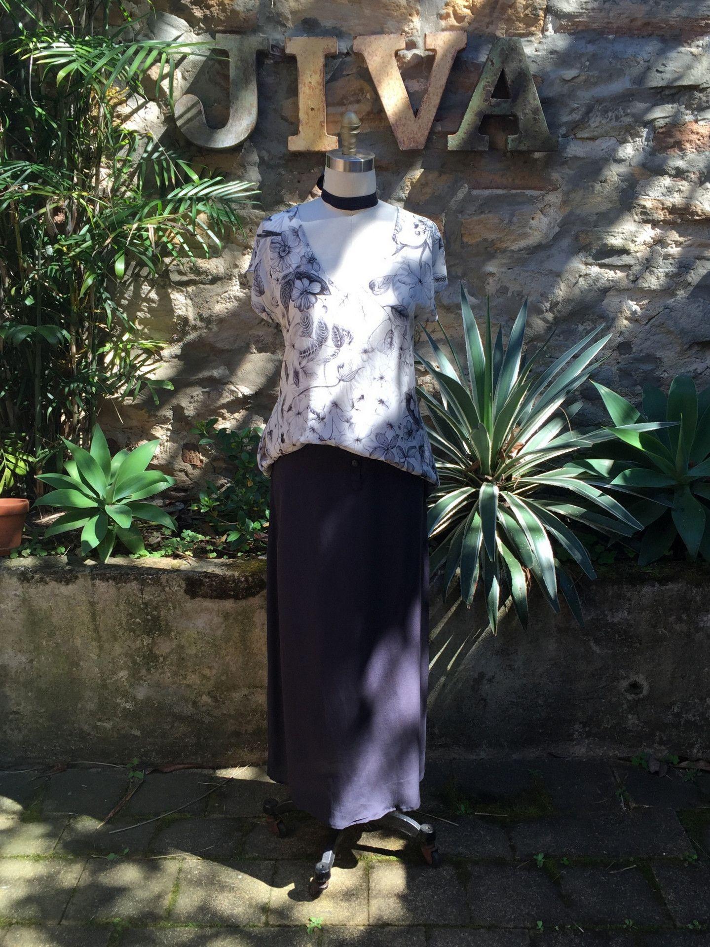 2039edbb26 Jiva Greta Tunic- Printed Floral Silk – Jiva Clothing