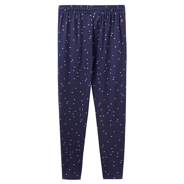 BuyJoules Erica Jersey Star Print Pyjama Bottoms, French Navy, 8 Online at johnlewis.com