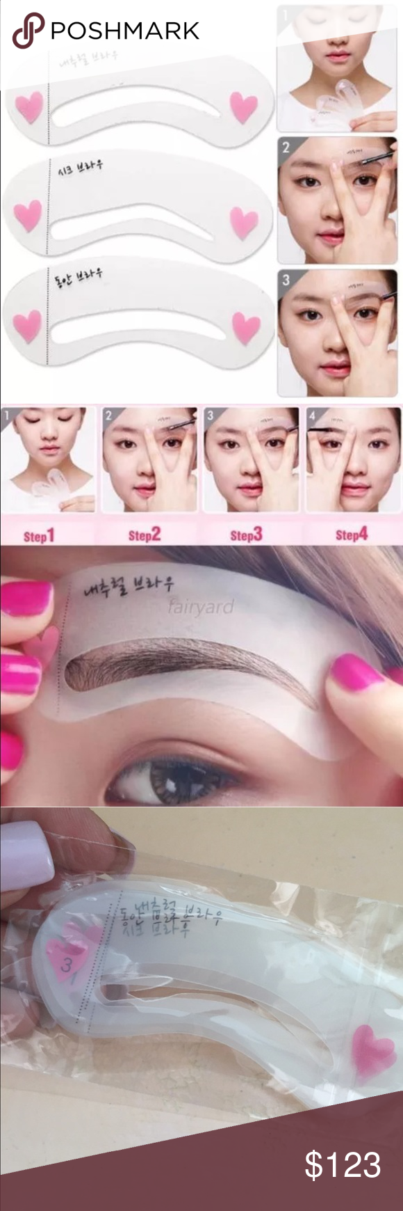 3 Eyebrow Stencils Choose 10 Items For 25 Boutique My Posh Shares
