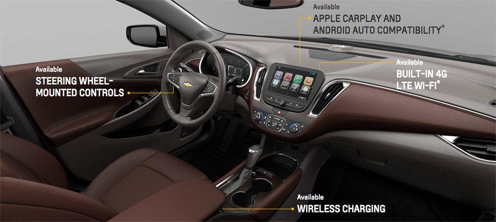Interior Features In The 2016 Chevrolet Malibu
