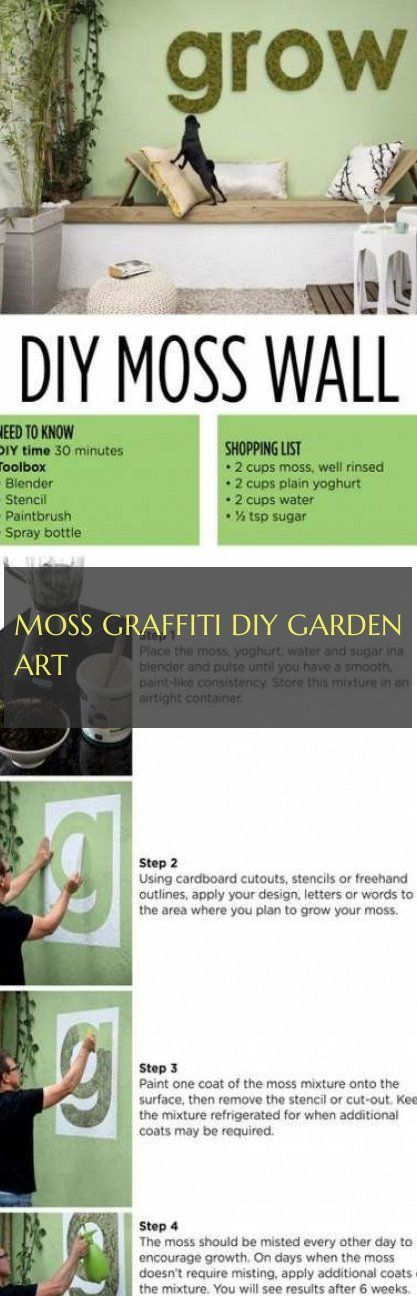 Moss Graffiti diy garden art