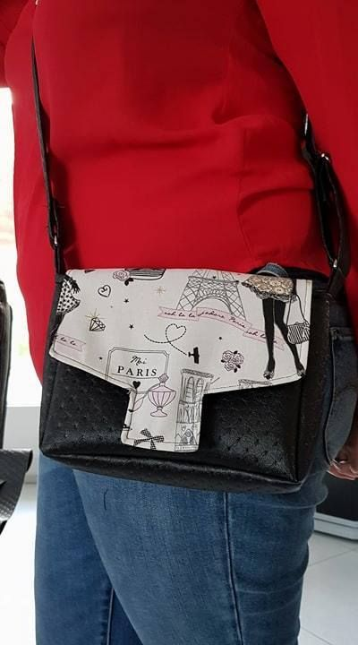 Petit sac bandoulière Menuet cousu par L'atelier Nora