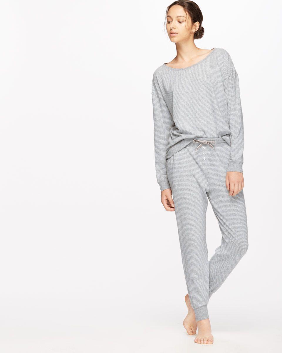 1ceb92a68a Penelope Stripe Jersey Pyjama | Style | Pajama set, Stripe print ...